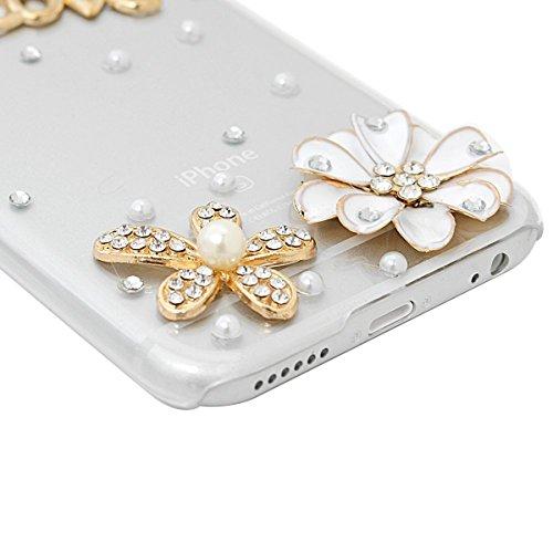 iPhone 6 Plus/6S Plus(5.5) Cover Trasparente Rigida Bling, SMARTLEGEND Cristallo Strass Glitter Diamante PC Hard Case Duro Protective Anti-shock Durable Custodia Regalo di Natale Copertina per Ragazz