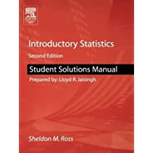 Introductory Statistics: Student Solutions Manual to Accompany