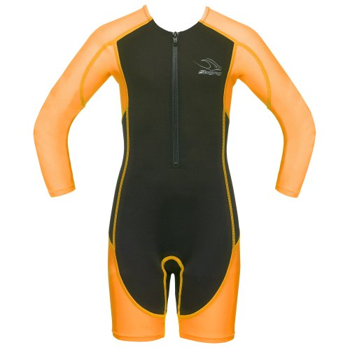 Aqua Sphere Childrens Boys/Girls Stingray Shorty Long Sleeve Wetsuit (Age 2) (Orange)