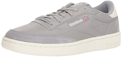 Reebok Men's Club C 85 Walking Shoe, TRC-Tin Grey/Chalk, 4.5 M US