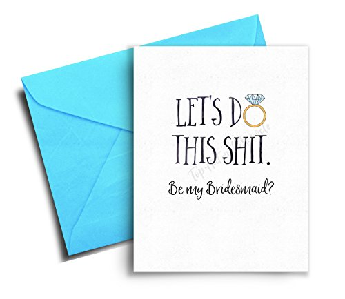 Will you be my Bridesmaid Card, Funny Bridesmaid Card, Bridesmaid Proposal