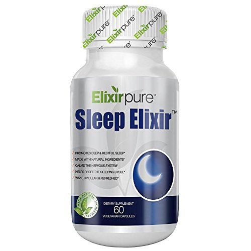 Natural Sleeping Aid Extra Strength by ElixirPure - Insomnia Relief - 100% Natural High Potency Formula Sleep Aid Supplement