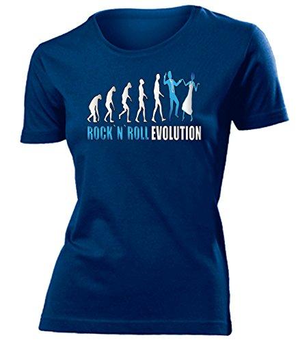 ROCK`N`ROLL EVOLUTION mujer camiseta Tamaño S to XXL varios colores marina / Azul