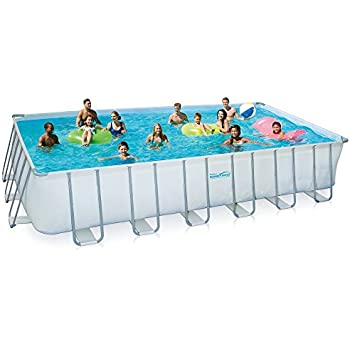 this item summer waves rectangular metal frame swimming pool package 12 x 24