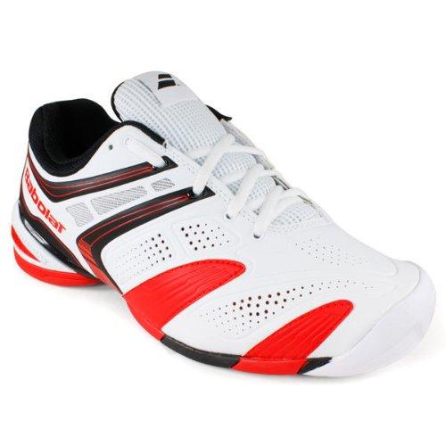BABOLAT V-Pro 2 All Court Zapatilla de Tenis Caballero Blanco - blanco y rojo