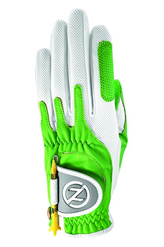 Zero Friction Womens Golf Gloves, Left Hand, One Size Golf, Lime Green