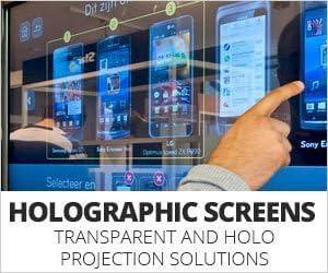 Lámina proyección pantalla holográfica transparente adhesiva ...