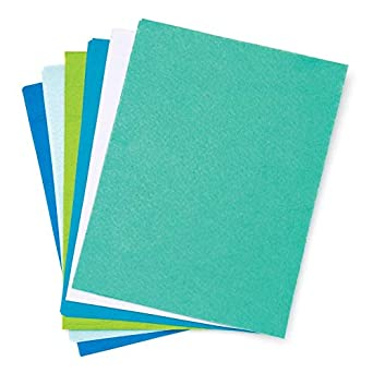 Ocean Colours - Hojas de fieltro (15 unidades): Amazon.es ...