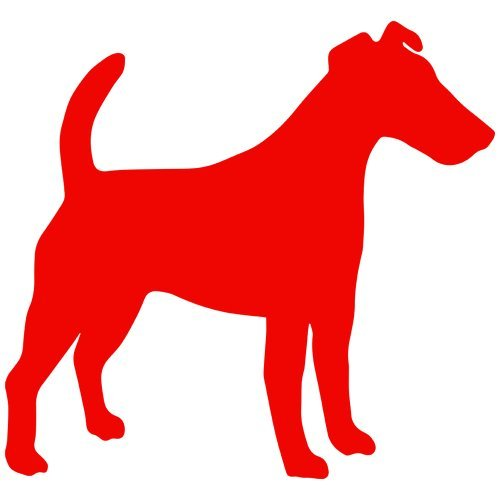Smooth Fox Terrier Sticker - Set of 3 - Smooth Fox Terrier Decal Sticker Color: red, Peel and Stick Vinyl Sticker