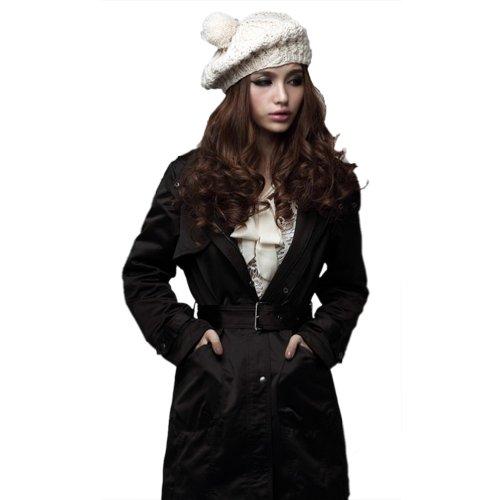 Grand Addensare Nero Extra Pile caldo Invernale Cappotto Hee Sintetica Pelliccia SP6wpxxqX