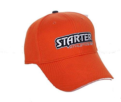 New! Starter Athletic Adjustable Back Hat Embroidered Curved Bill Cap - Orange