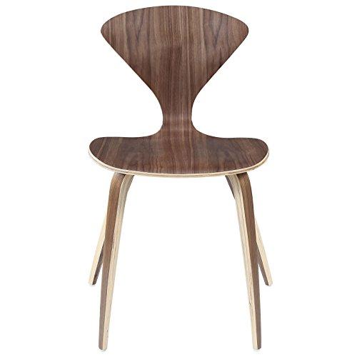 Furniture Imports Walnut Chair - Modway Vortex Dining Side Chair in Dark Walnut
