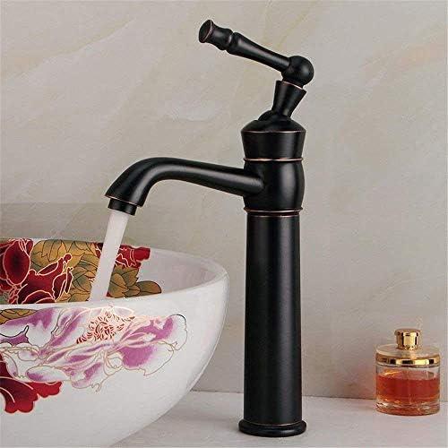 Yadianna バスルームのシンクのためのバスルームのシンクミキサータップアンティーク温水と冷水シングルレバータップ