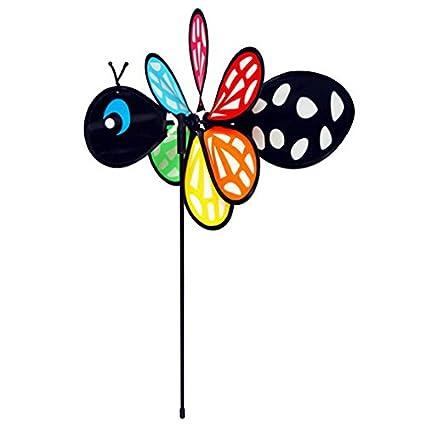 11 by 16 Gardeners Select Black Bee Pin Wheel