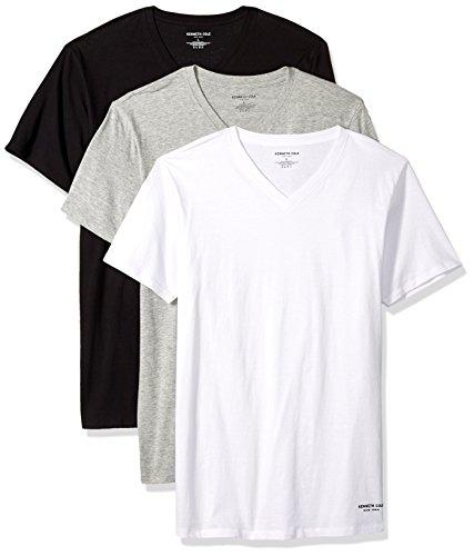 Kenneth Cole New York Men's Novelty 3 Pack V Neck Tees, White/: ogjtgray/Black, XL from Kenneth Cole New York