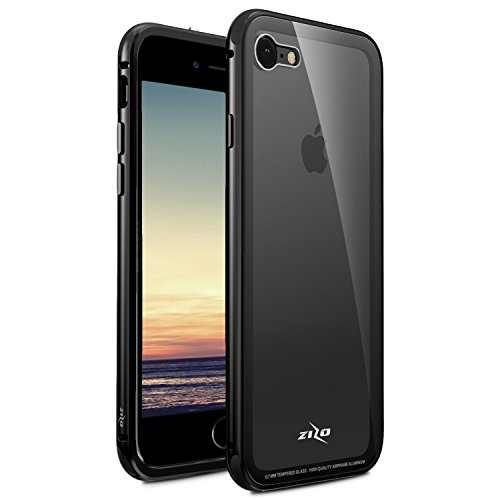 iPhone 8 Plus Case / iPhone 7 Plus Case - Zizo [ATOM Series] w/ [iPhone 8 Plus Screen Protector] Aluminum w/ Glass Backing [Military Drop Tested]