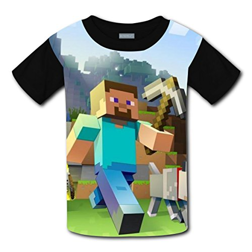 Minecraft 3D T-shirts for Kids Short Sleeve Tops Tee Shirt Costume