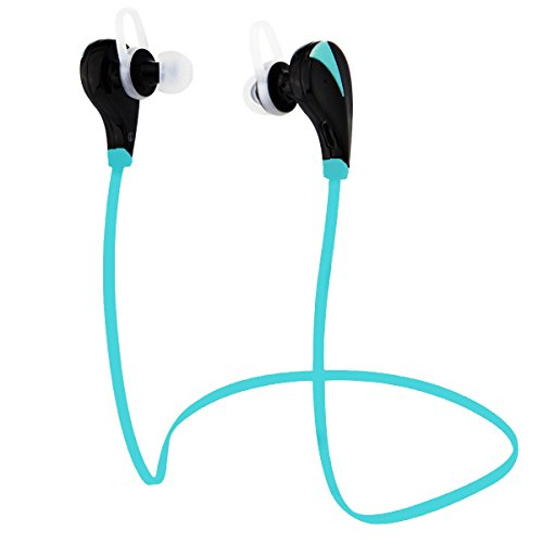 eCandy BBZ-002 Wireless Bluetooth Noise Cancelling Headphones with Microphone for Android Phones and Bluetooth Enabled Devices - Blue