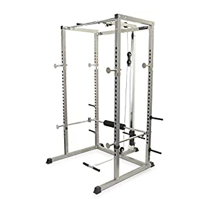 Valor Fitness BD 7 Power Rack Squat Rack and Bench Press Power Cage with LAT Pulldown Attachment and Other Workout Rack Bundle Options for a Complete Weightlifting Home Gym