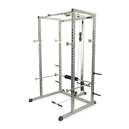 Valor Fitness BD-7 Power Rack with LAT Pull Attachment & Pull Up...
