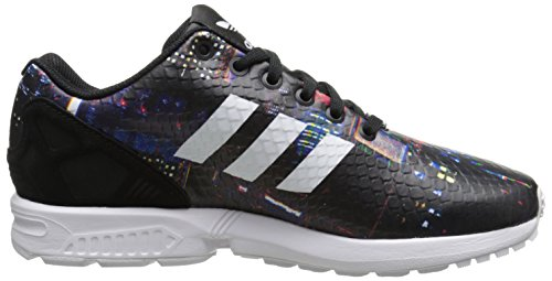 Adidas Womens ZX Flux Leather Trainers Core Black/White/Black