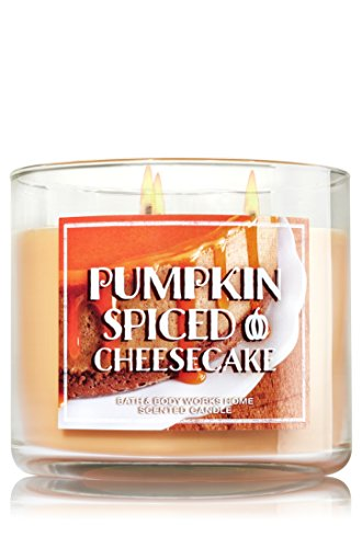 Bath & Body Works Home Pumpkin Spiced Cheesecake Scented 3 Wick 14.5 Oz Candle