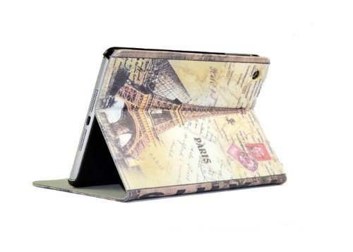 Mocase Tower of Paris G Retro Style Pu Leather Stand Leather Cover Case for Apple Ipad Mini Case