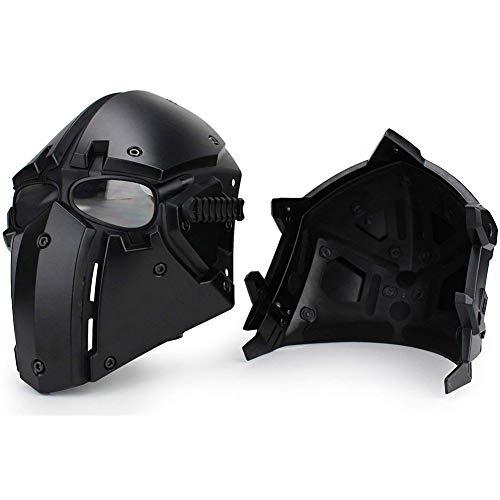 QZY Fast Tactical Casque Full Face Protectrice avec Visière Lunettes, pour La Chasse De Paintball Airsoft Moto Militaire… 4