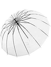 Clear Umbrella for Weddings, Plastic Windproof Clear Rain Umbrella for Women & Kids Girls