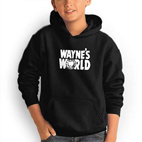 SUZETTE MUNOz Unisex 3D Printed Wayne's World Cotton Teen Hoodie Sweatshirt Athletic Leisure with Pockets Black M