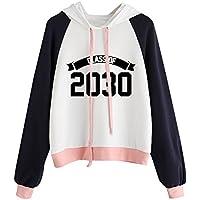 Litetao New Fashion Raglan Hoodie Print 2030 Sweatshirt Long Sleeve Pullover Tops