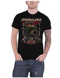 Black Sabbath T Shirt Bloody Sabbath 666 Distressed Logo Official Mens Black