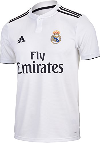 adidas World Cup Soccer Real Madrid Soccer Youth Real Madrid Home Jersey, Medium, Core White