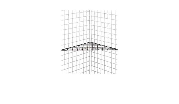New Retail Black Finish Triangle Grid Shelves 24 X 24 X 32