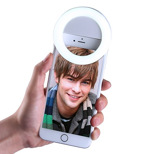 Premium Quality Selfie Ring Light   1000Mah Rechargable Battery  Portable Mini 33 White Leds Beauty Fill In Light 3 Adjustable Gears Brightness For Iphone Ipad Android Phone In Dim Environment  White