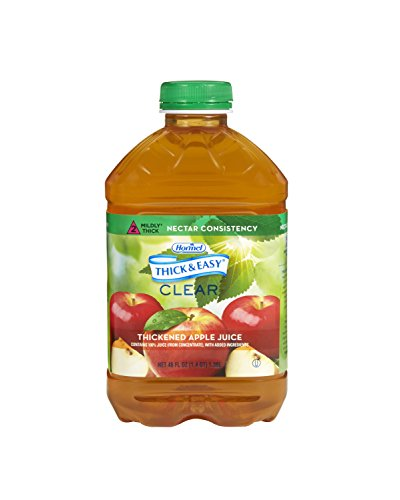 Thick & Easy Clear Thickened Apple Juice, Nectar Consistency, 46 Ounce (Pack of 6) ()