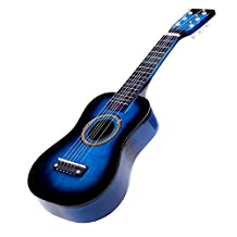 "SODIAL(R) 23"" Guitar Mini Guitar Basswood Kid's Musical Toy Acoustic Stringed Instrument with Plectrum 1st String Blue"