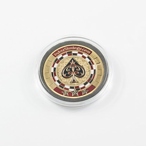 Ship From USA Metal Pressing Poker Cards Guard Protector Poker Chip Coins Inlay Lucky Souvenir 1-pc Set (SPADES ACE)