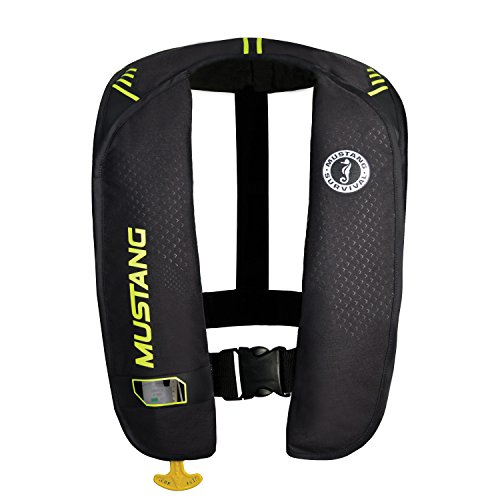 Mustang Survival Corp M.I.T. 100 Manual Activation PFD, Black/Fluorescent Yellow Green ()