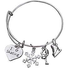 Infinity Collection Figure Skating Bracelet, Girls Ice Skating Jewelry, Ice Skate Charm Bracelet - Perfect Figure Skating Gifts
