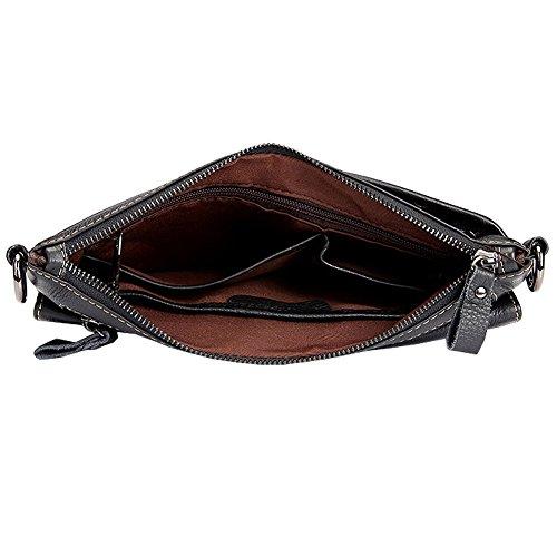 Othilar Herren Damen Leder klein Tasche Bauchtasche Hüfttasche Geldbörse für Handy Sport