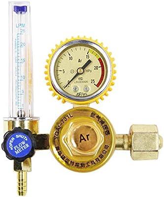 Hanchen Gas Regulator 0-25Mpa Argon CO2 Mig Tig Flow Meter Flowmeter Welding Weld Gauge Argon Regulator Oxygen Pressure Reducer