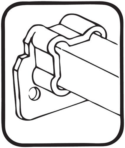 GO-EZ Concealed Undermount Slide rear socket (sold as a pair)