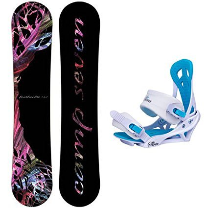Camp Seven Featherlite Women's Snowboard Package + Siren Mystic Bindings