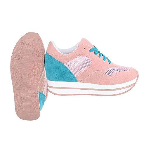 Ital-Design - Zapatillas altas Mujer Rosa 6550-Y
