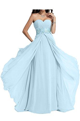 Ausschnitt Abendkleid Exquisite Himmelblau A Promkleid Lang Herz Damen Partykleid Linie Ivydressing Steine Festkleid tZRqgBn