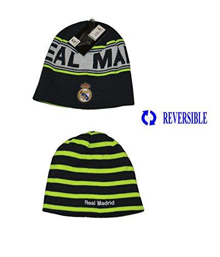 Real Madrid Beanie Pom Pom Skull Cap Hat New Season 2015-2016 (Reversible - Cap Skull Reversible