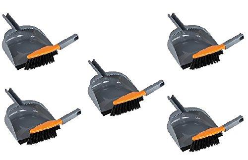 Casabella Dustpan & Brush Set Graphite/Orange (5)