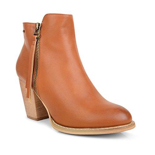 SC ,  Damen Chelsea Boots Hautfarben