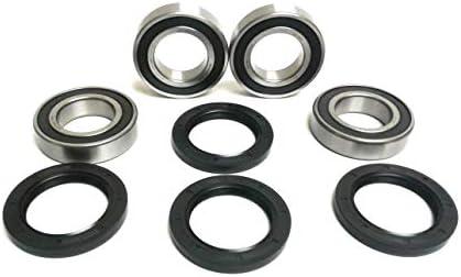 Front Wheel Ball Bearing /& Seal Kit Fits SUZUKI LT-A400 EIGER 2x4 4x4 2002-2007
